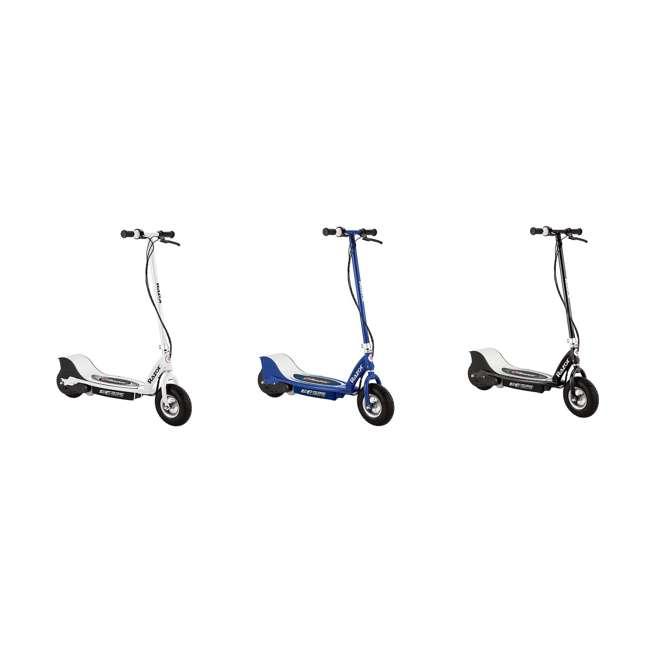 13116310 + 13116341 + 13116397 Razor E325 24V Kids Scooter, White + E325 Scooter, Navy + E325 Scooter, Black