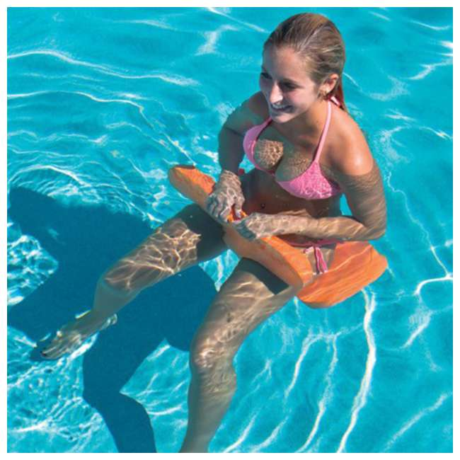 14-2120 WOW Watersports 1 Person Soft Foam Beach Bronco Swimming Pool Saddle, Orange 3