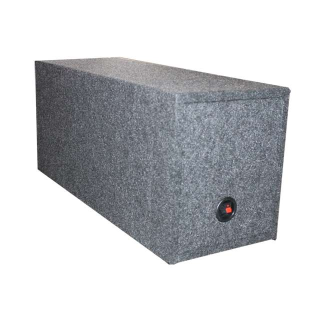 VM12SEALED QPower Dual 12-Inch Subwoofer Box Enclosure QPSQ12EM 2