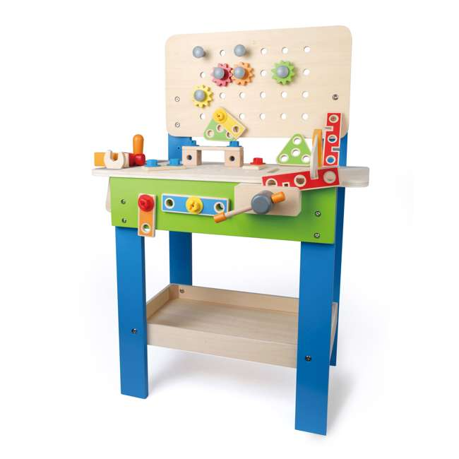 E3000 Hape Wooden Child Master Tool and Workbench Toy Builder Set (For Parts) 4