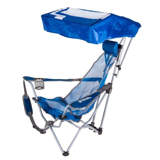 4 x 80162-SW Kelsyus Backpack Beach Folding Lawn Chair with Canopy, Blue  (4 Pack) 1