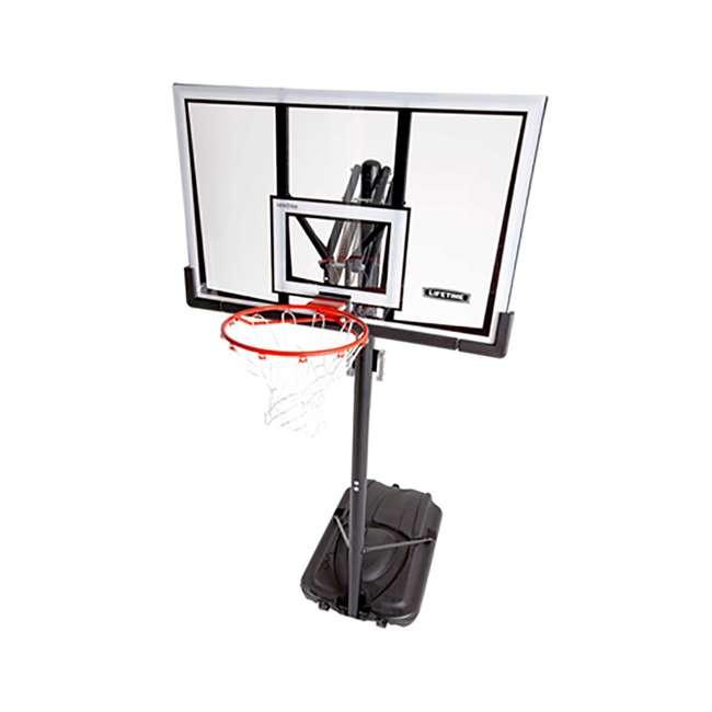 90601 Lifetime Adjustable All Weather Shatterproof Basketball Sports Hoop (Used) 3