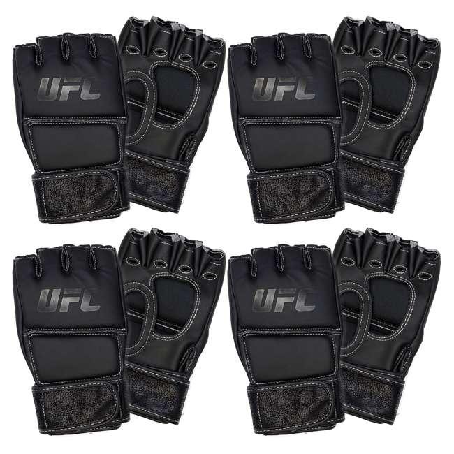 4 x 14430P010250-MMASM Century Martial Arts UFC Open Palm S/M Gloves, Black (4 Pairs)
