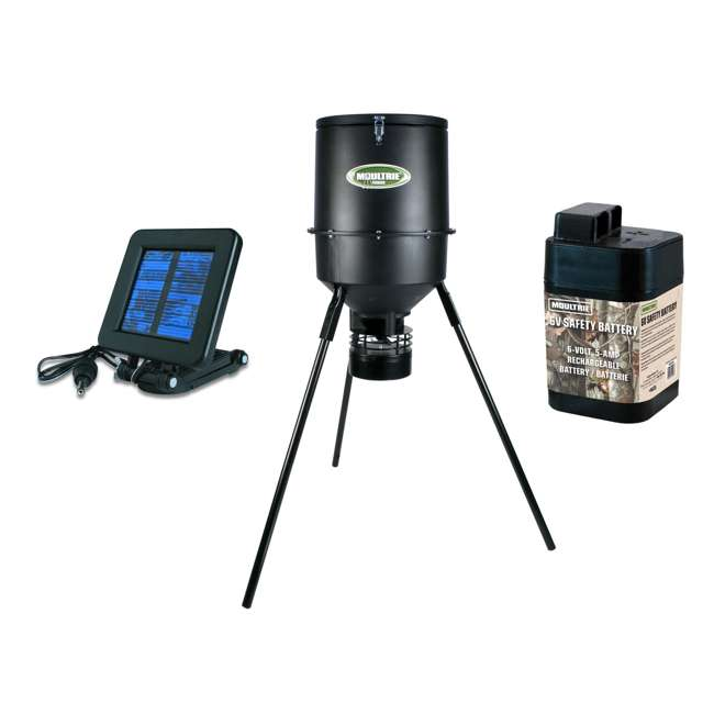 Moultrie 30 Gallon Pro Magnum Bdh Deer Feeder W Battery Solar