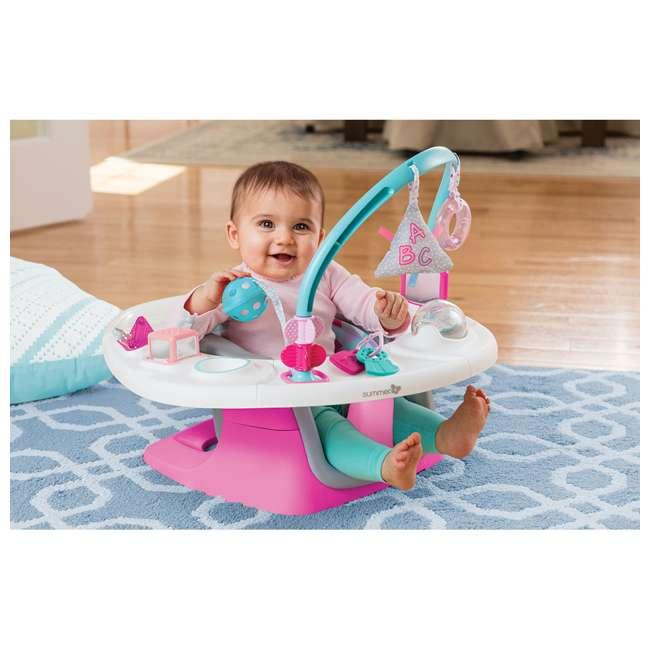 13595 Summer Infant Deluxe 4 In 1 Baby Floor Booster SuperSeat Activity Chair, Pink 6