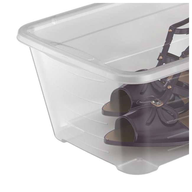 12 x MHSB Life Story 5.7-Liter Clear Shoe Closet Storage Box Container (12 Pack) 5
