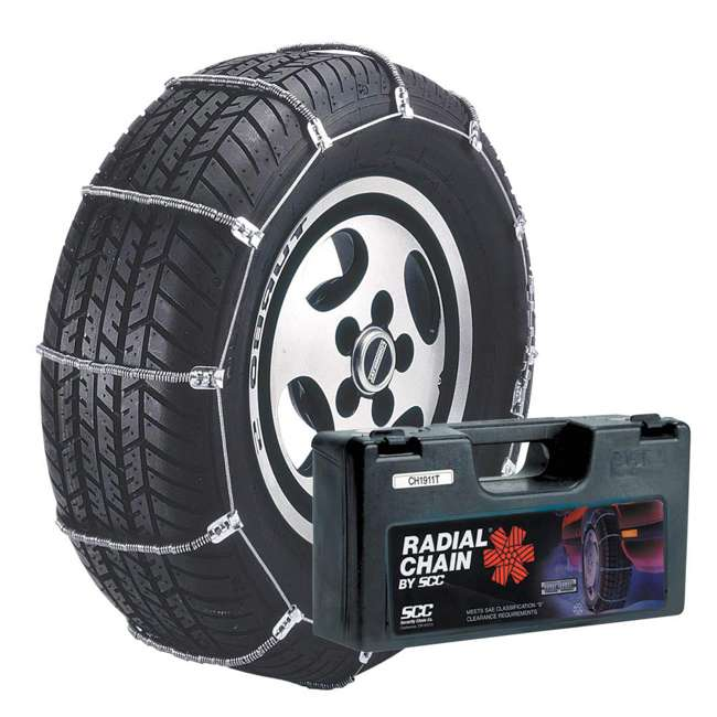 SC1042 Security Chain SC1042 Car Snow Tire Radial Traction Grip Cable Chain (2 Pack)