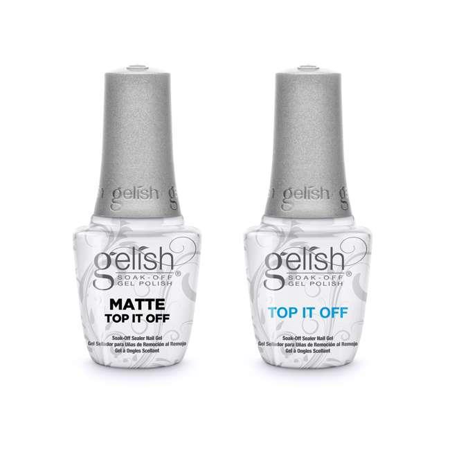 1121519-TOPOFFDUO Gelish Matte & Gloss Duo Top It Off Soak Off Gel Nail Polish Sealer Clear Coat
