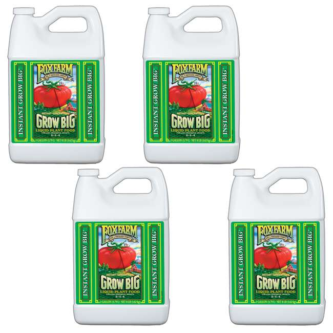 FoxFarm Grow Big Liquid Concentrate Fertilizer, 4 Gallons