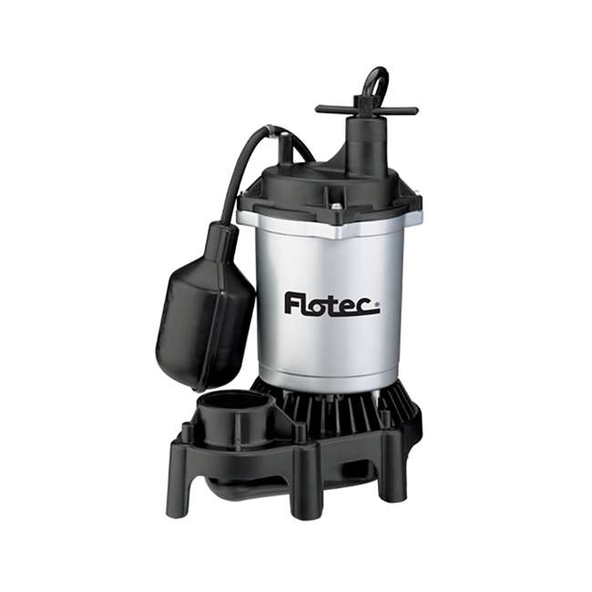 FPZS50T Flotec FPZS50T 1/2 HP 4200 GPH Max Flow Submersible Thermoplastic Sump Pump