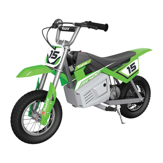 15128030 + 97775 + 96785 Razor Dirt Rocket MX400 Electric Moto Bike with Helmet, Elbow & Knee Pads 1
