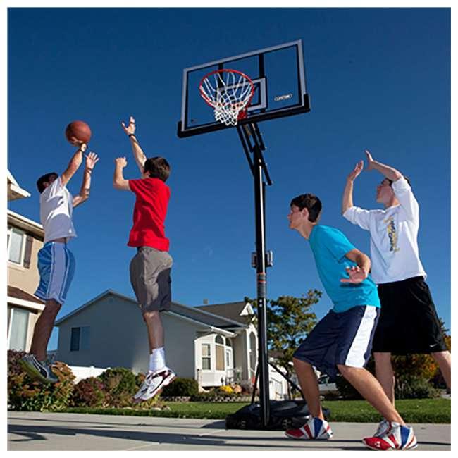 90601 Lifetime Adjustable All Weather Shatterproof Basketball Sports Hoop (Used) 1