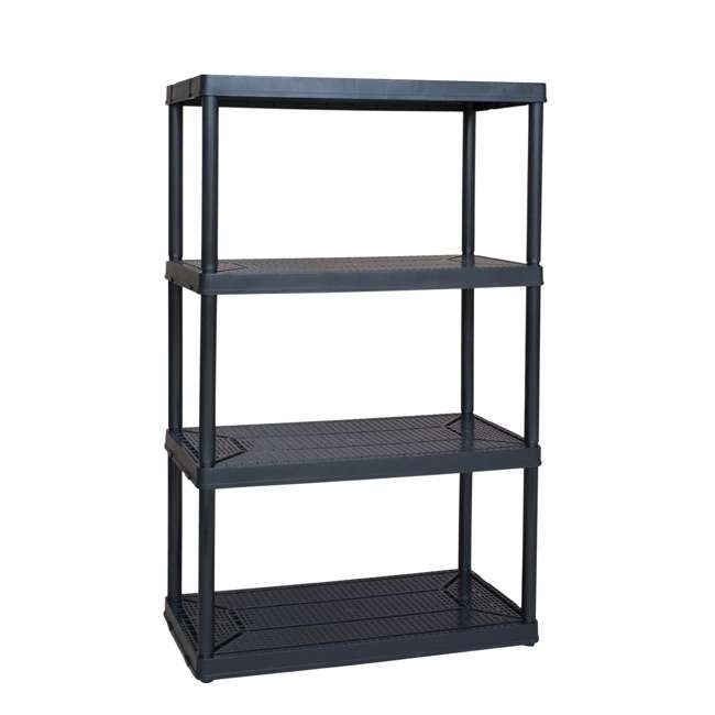 91063MAXIT-1C-30 Gracious Living Heavy Duty Non Adjustable Ventilated Storage Shelving, 4 Shelf