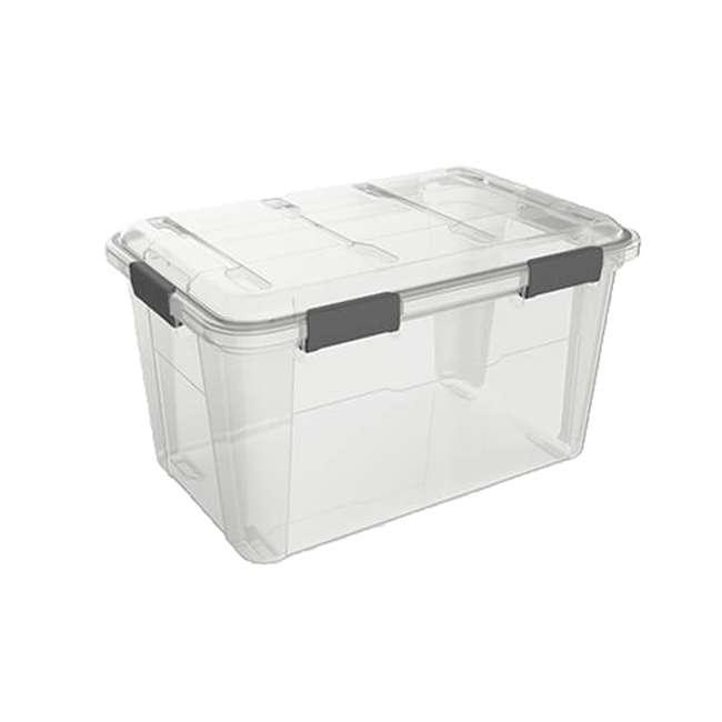 FBA32227 Ezy Storage Weather Proof IP65 50 Liter Plastic Storage Container Bin Box w/ Lid 4