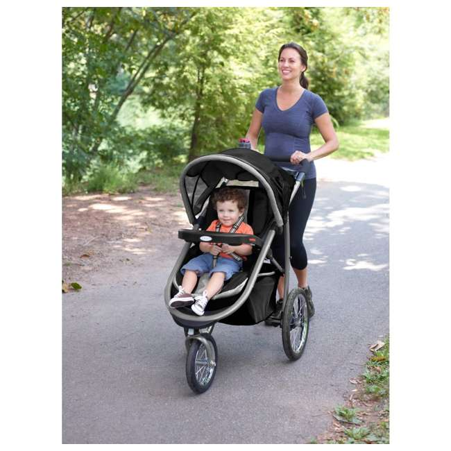Graco FastAction Jogging Baby Stroller w/ Infant Car Seat ...