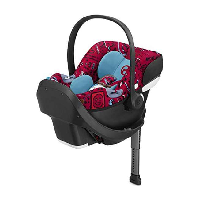 519001473 Cybex Aton M Rear Facing Adjustable Infant Car Seat with SafeLock Base, Love Red