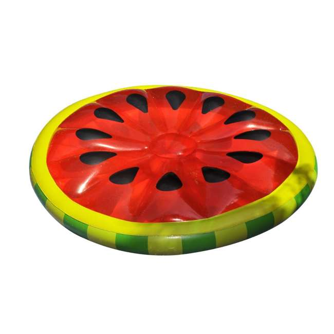 6 x 90544 Swimline Inflatable Watermelon Slice Island Raft (6 Pack) 1