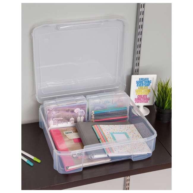 585140 IRIS 585140 5 x 7 Inch Large Photo Craft Keeper Storage Box Organizer, Clear 5