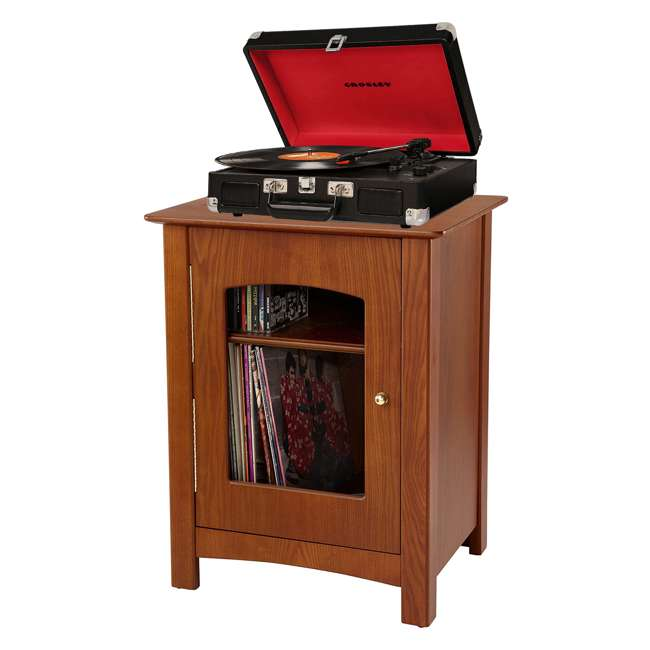 ST75-PA Crosley Bardstown Record Player Vinyl Storage Center, Paprika 1