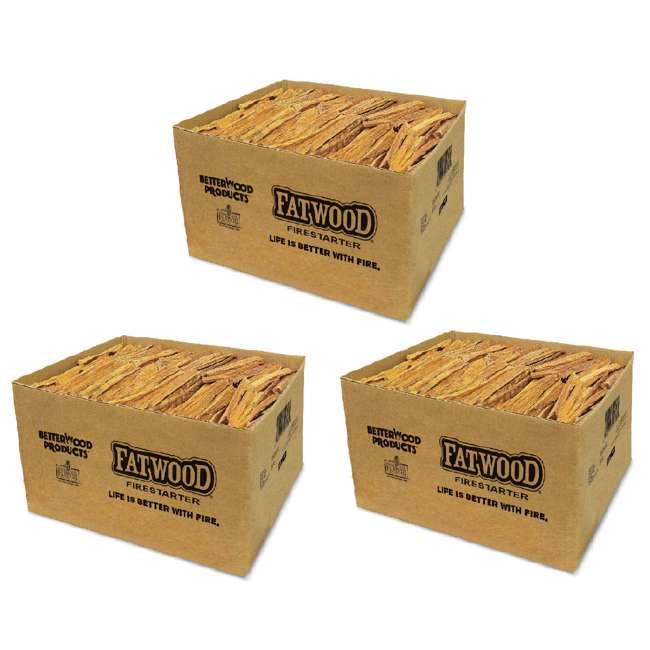 3 x BWP-09925 Betterwood Products Natural Hand Split Fatwood 25 Pound Firestarter (3 Pack)