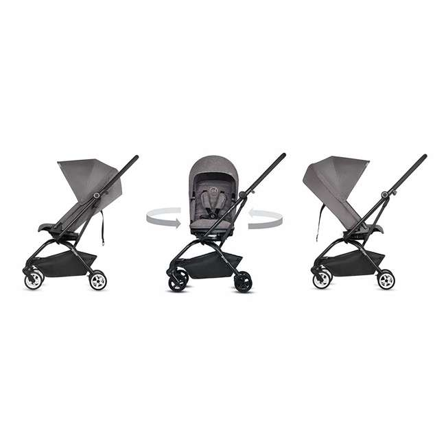 518001259  Cybex Eezy S Twist Travel System Baby and Toddler Stroller w/ Sun Canopy, Black 1
