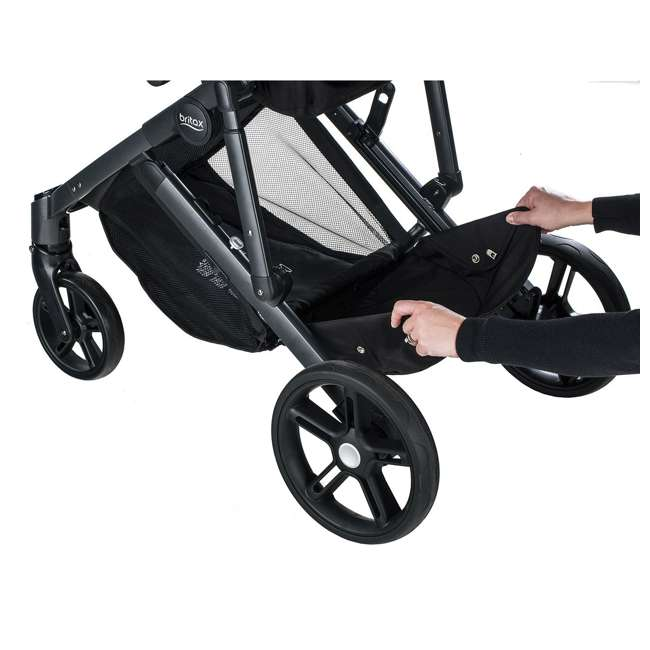 U911905 Britax U911905 B Ready G3 Folding Reclining Travel Canopy Baby Stroller, Black 6