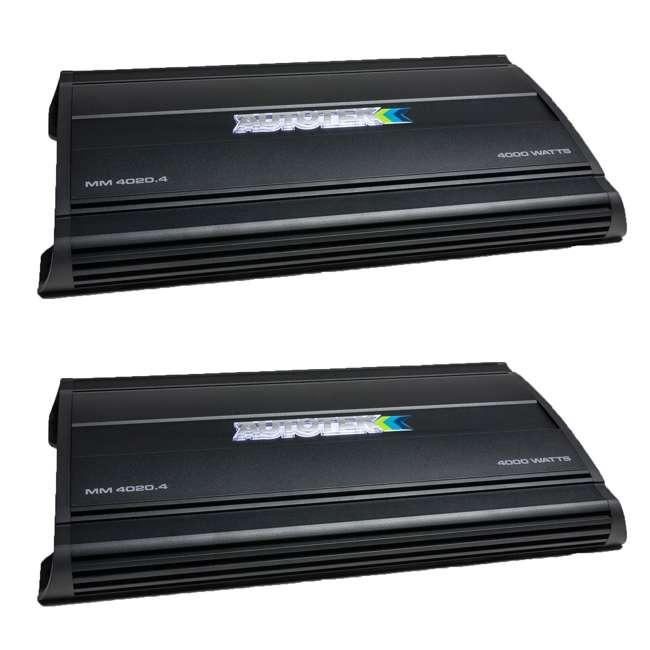 MM4020.4 Autotek MM4020.4 Mean Machine 4000-Watt 4-Channel Bridgeable Amp (2 Pack)