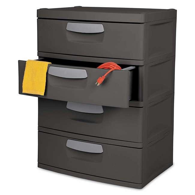 6 x 01743V01 Sterilite 4-Drawer Storage Unit (6 Pack) 3