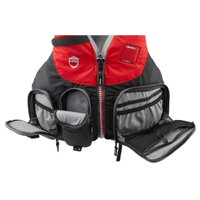 40071.01.101 NRS Chinook OS Type III Fishing Life Vest PFD with Pockets, X Small/Medium, Red 3