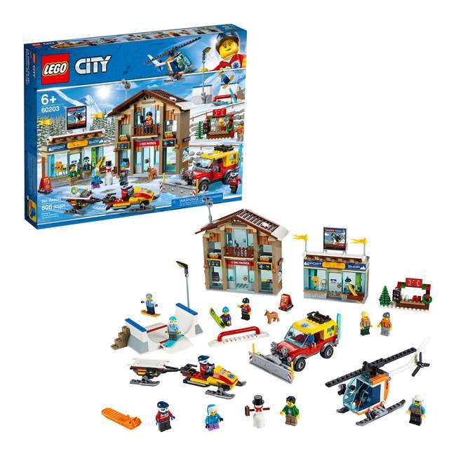 6283902 LEGO City 60203 Winter Ski Resort Building Kit 806 Pieces w/ 11 Minifigures 1
