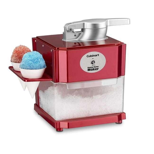 SCM-10 Cuisinart SCM-10 Snow Cone Shaved Ice Maker Machine with Paper & Plastic Cones