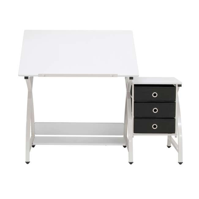 STDN-38016 SD STDN-38016 Comet 2 Piece Craft Table with Adjustable Top and Stool, White 5