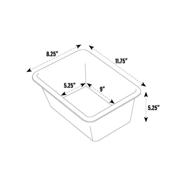 SM098 + SM111 Tot Tutors Plastic Storage Container Bins, Pink/Purple & Blue/Teal (Set of 8) 7