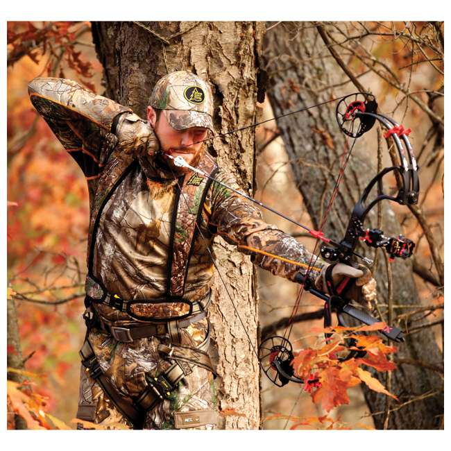 HSS-BPLXL Hunter Safety Systems Alpha Tree Hunting Harness, Large/XL 2