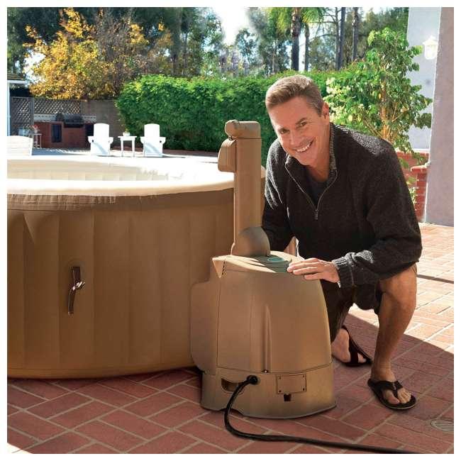 28505E + 28403E Intex 28403E Pure Spa 4-Person Inflatable Heated Hot Tub With Soft Foam Headrest 5