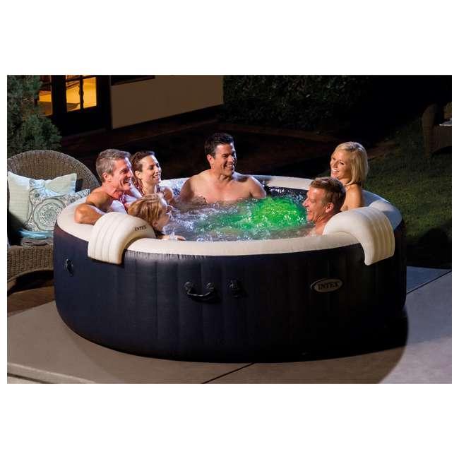 28431E Intex PureSpa Plus 6 Person Portable Inflatable Hot Tub Bubble Jet Spa, Navy 1