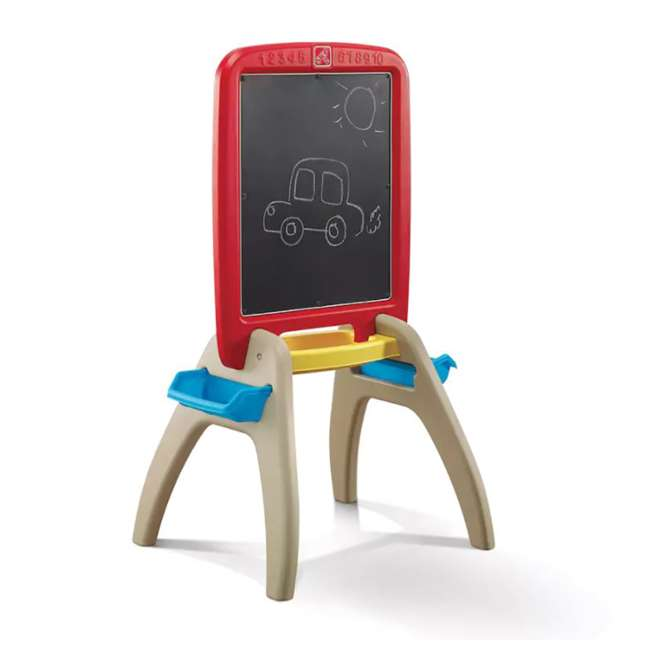 826800 Step2 All Around Easel for Two Kids Dry Erase Chalkboard Easel 2