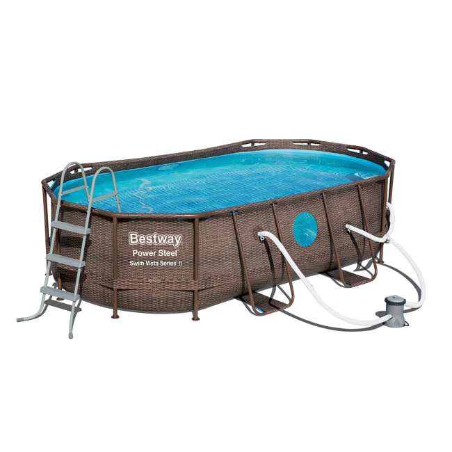 Bestway Power Steel Swim Vista 14 X 8 2 X 39 5 Foot Pool