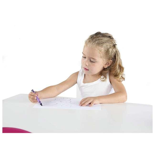 TC727 - Friends Tot Tutors Friends Collection Kids Wood Table & 4 Chair Set, White/Pink & Purple 3