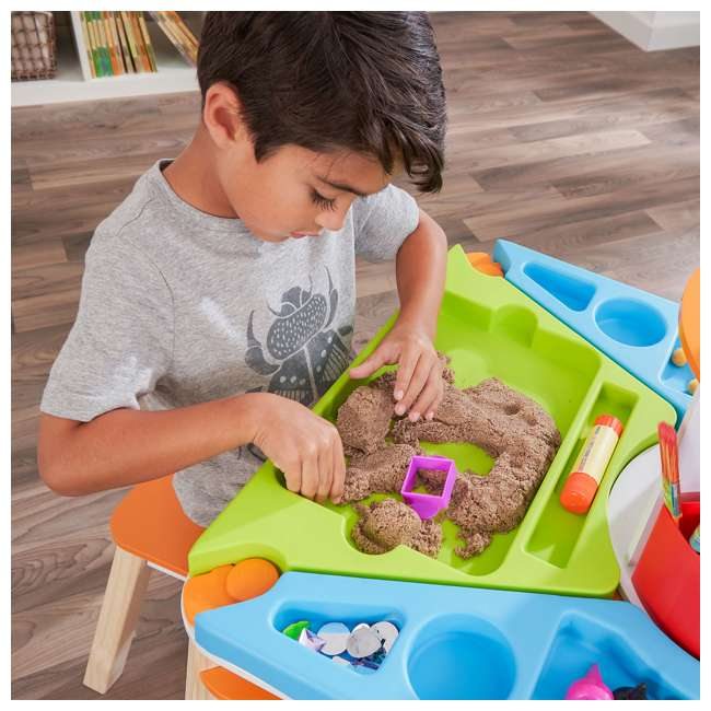 10091 Kidcraft 10091 Ultimate Creation Station Kids Activity Art Table with Two Stools 9
