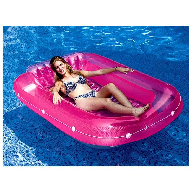 "90465 + 9052 Swimline Swimming Pool U-Seat Chair Float (2 Pack) & 71"" Suntan Tub Float 3"