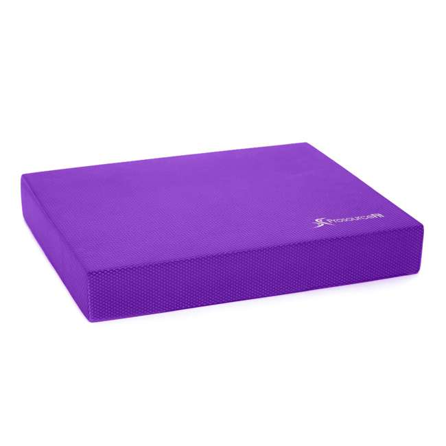 ps-1041-bp-l-purple Prosource Fit Foam Exercise Stability Physical Therapy Balance Pad Mat, Purple