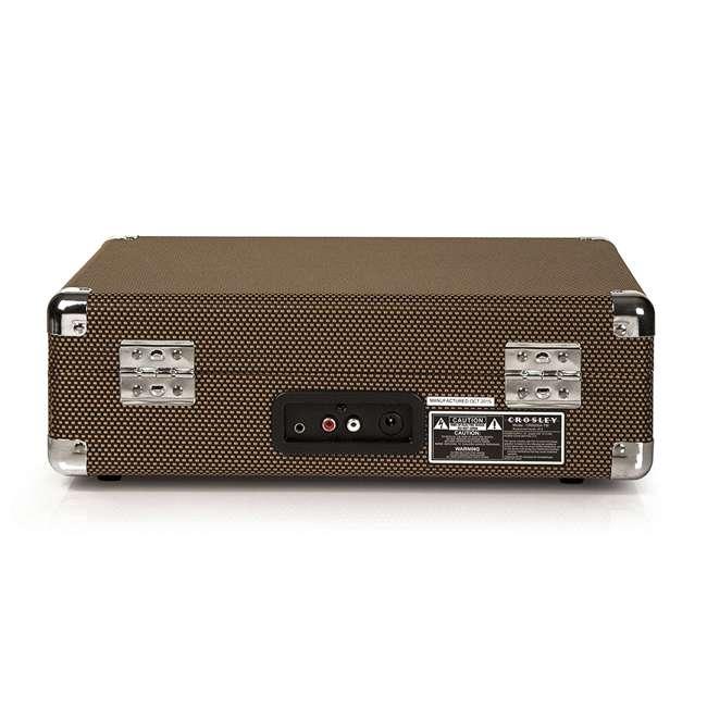 CR8005D-TW Crosley Cruiser Deluxe Portable Bluetooth Turntable, Tweed 3