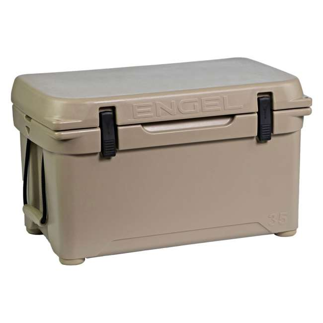 ENG35-T Engel 35 High-Performance Roto-Molded Cooler, Tan 4