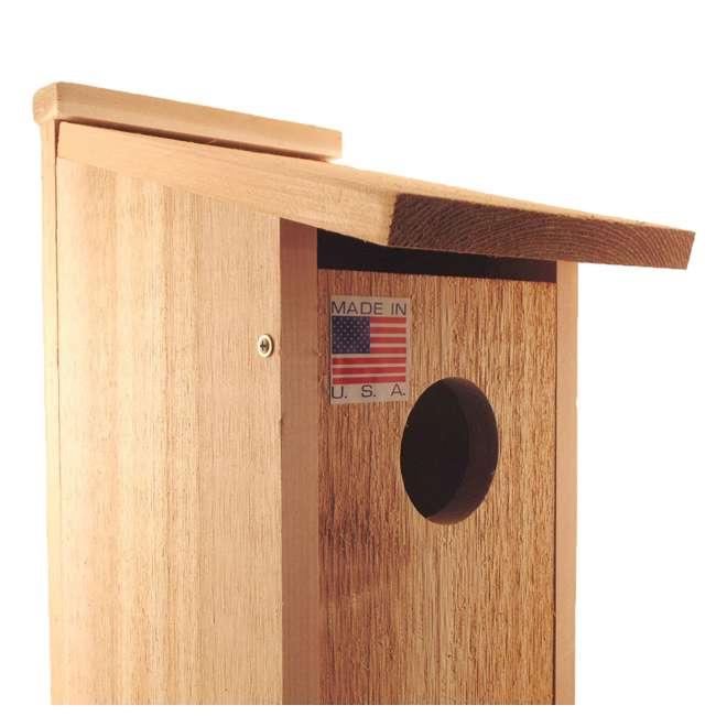 WL-24338 Woodlink Wooden Screech Owl Kestrel Bird House Nesting Box with Wood Shavings 2