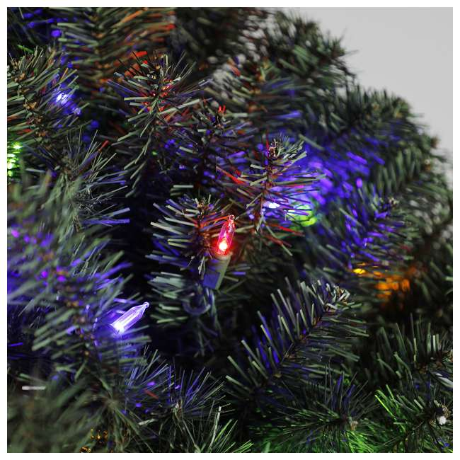 GD4000CYKD00 Home Heritage 48 Inch Holiday Christmas Wreath X976 Tips w/ 200 Color LED Lights 1