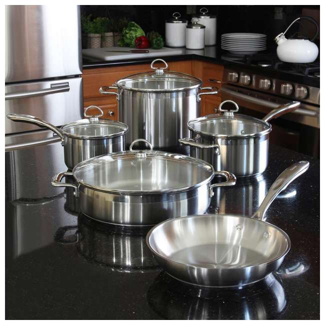 SLIN-9 Chantal Induction 21 Steel Cookware Set, 9-Piece (2 Pack) 2
