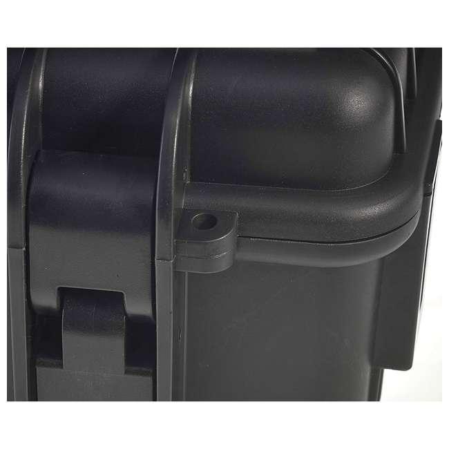 6700/B/SI + CS/3000 B&W 42.8L Plastic Waterproof Case w/ Wheels, Foam Insert & Shoulder Strap, Black 4
