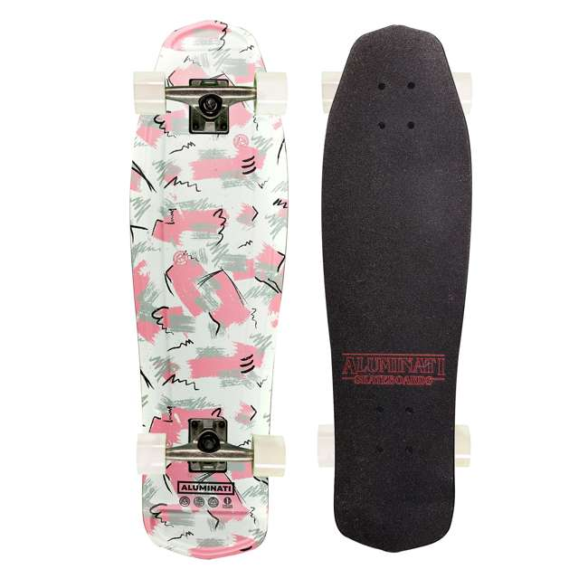 FH1912 Aluminati Pre-Gripped Lightweight Hoppy Mullet Cruiser Skateboard with Wheels