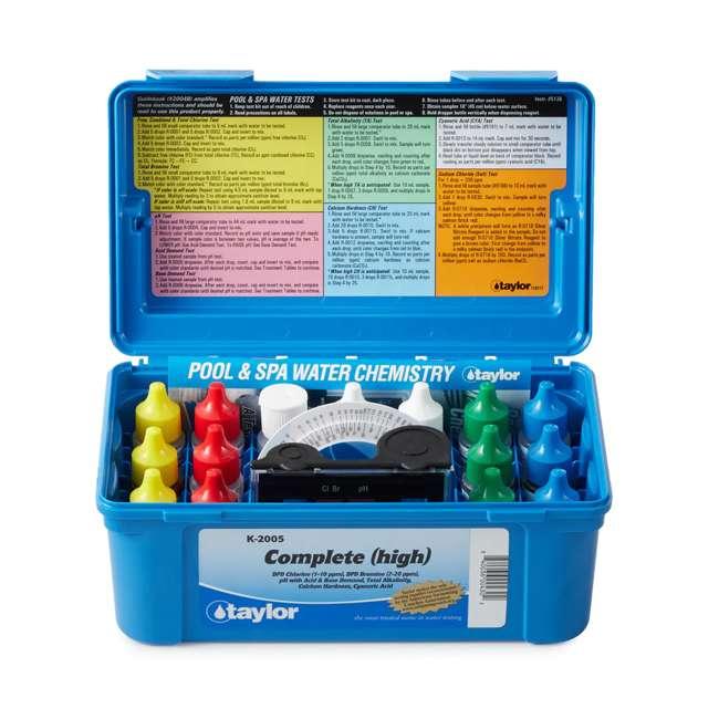 K2005 Taylor Swimming Pool Chlorine Bromine Alkalinity Hardness pH DP Test Kit (2) 1